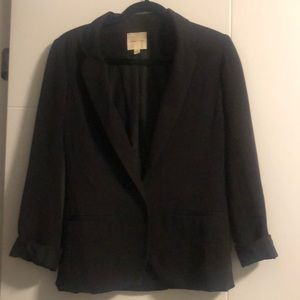 Silence and Noise  black semi structured blazer